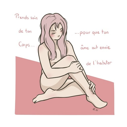 Illustration d'un proverbe chinois prends soin de toi