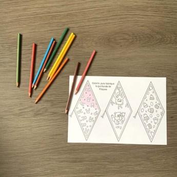 Illustration : fabrique ta guirlande de Pâques