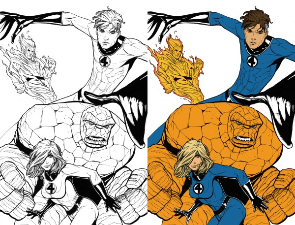 fantastic four coloring pages # 42