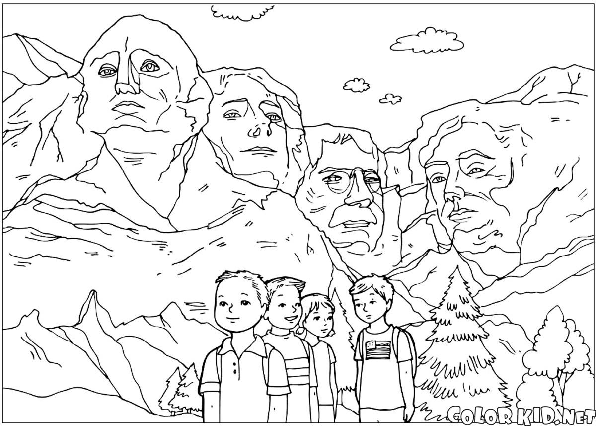 download or print out the coloring page the sculptures of mount