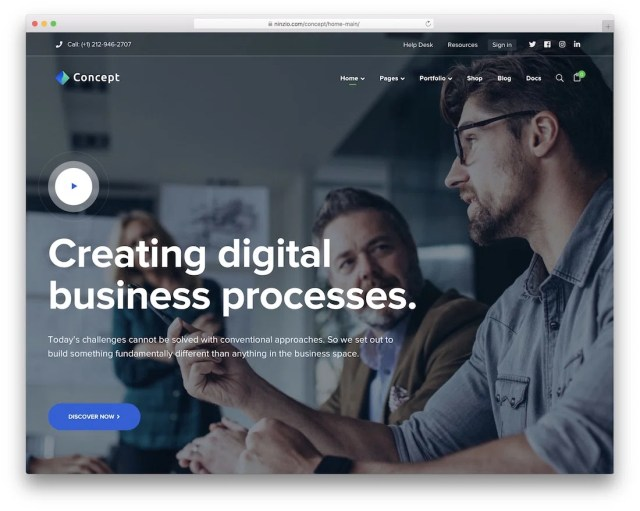 concept seven wordpress business theme