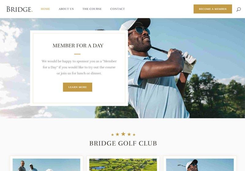 Tema de Bridge WordPress Golf