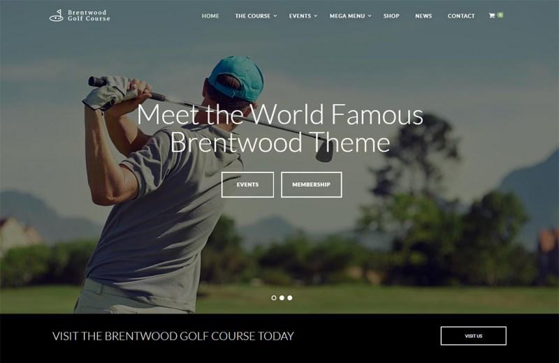 Brentwood WordPress Golf Theme