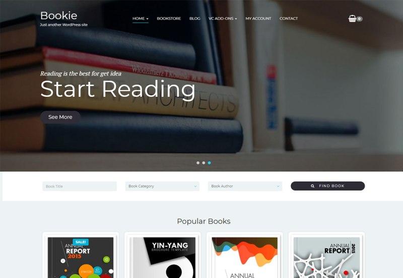 Bookie - Tema de WordPress para un solo producto