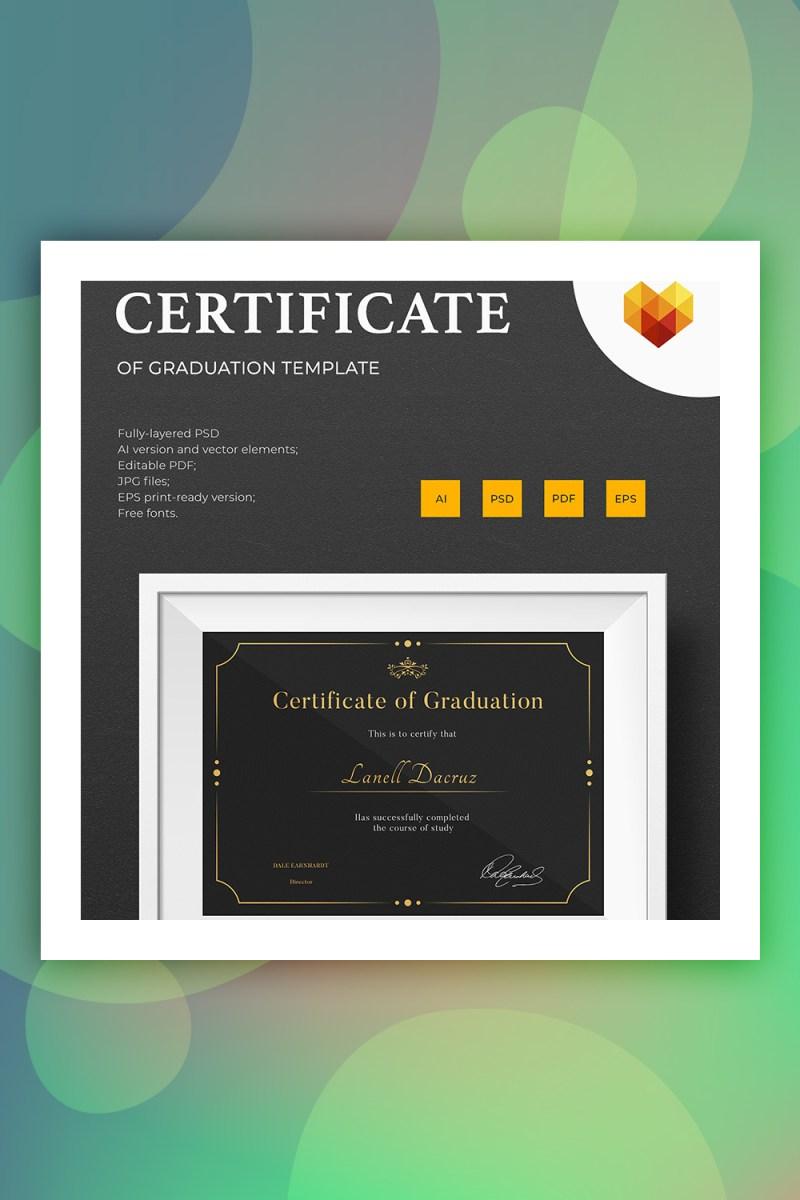 Plantilla de certificado de graduación