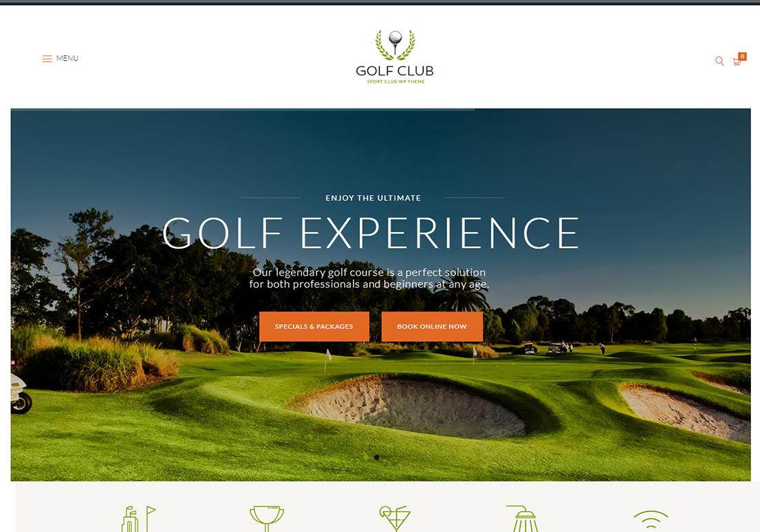 Golf Club WordPress Golf Theme
