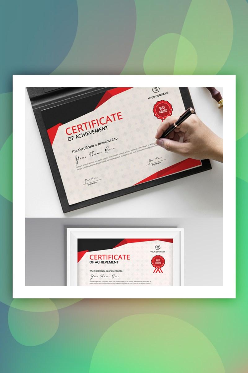 Plantilla de certificado de logro rojo y gris