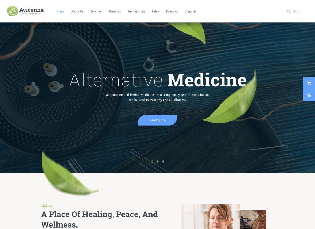 Avicena | Tema de WordPress de medicina alternativa