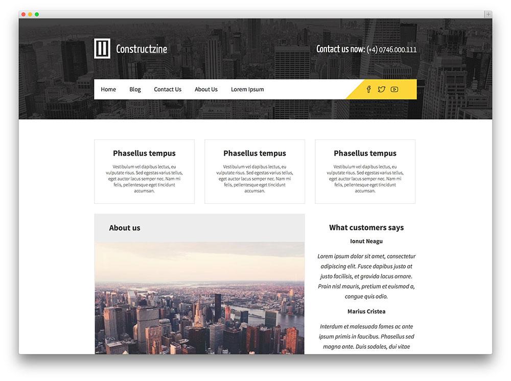 tema Constructzine WordPress