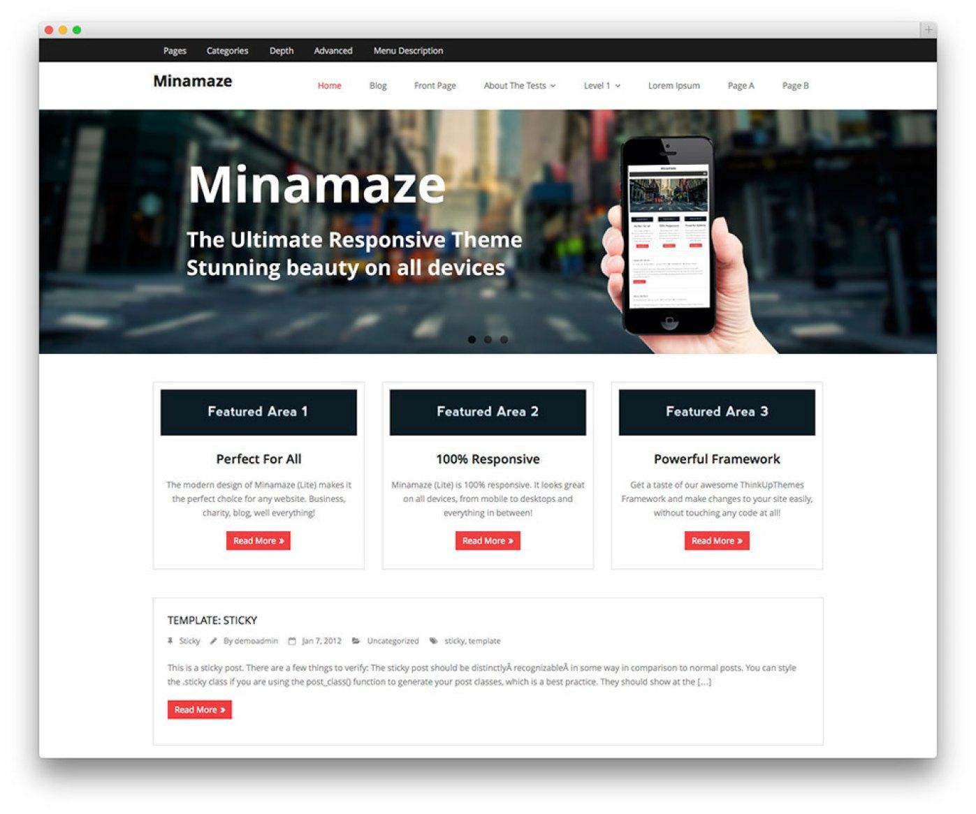 Minamaze - App tema Showcase