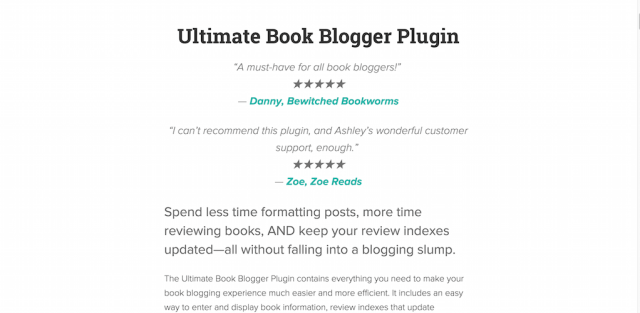 Ultimate Book Blogger Plugin for WordPress