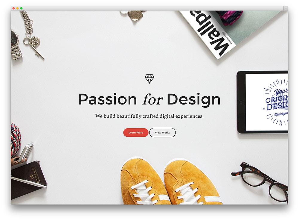 Aeris engenhoso criativo um página tema