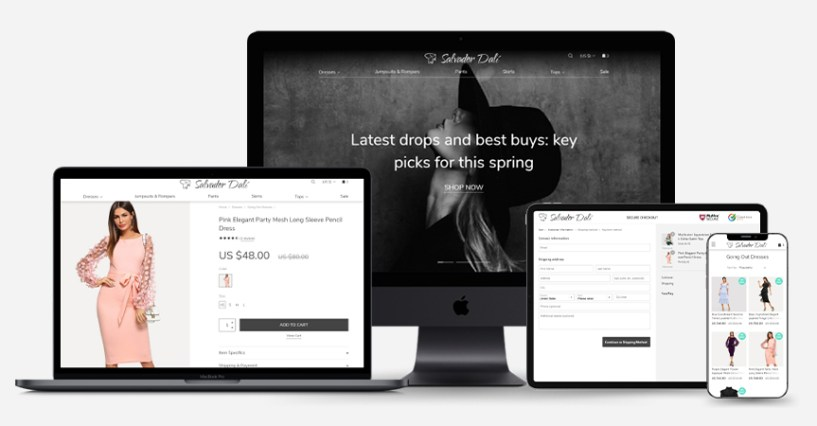 How To Order A Custom Drop Shipping Store- mobile optimized site