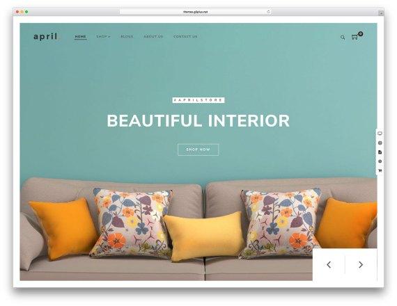 APRIL  WordPress eCommerce theme