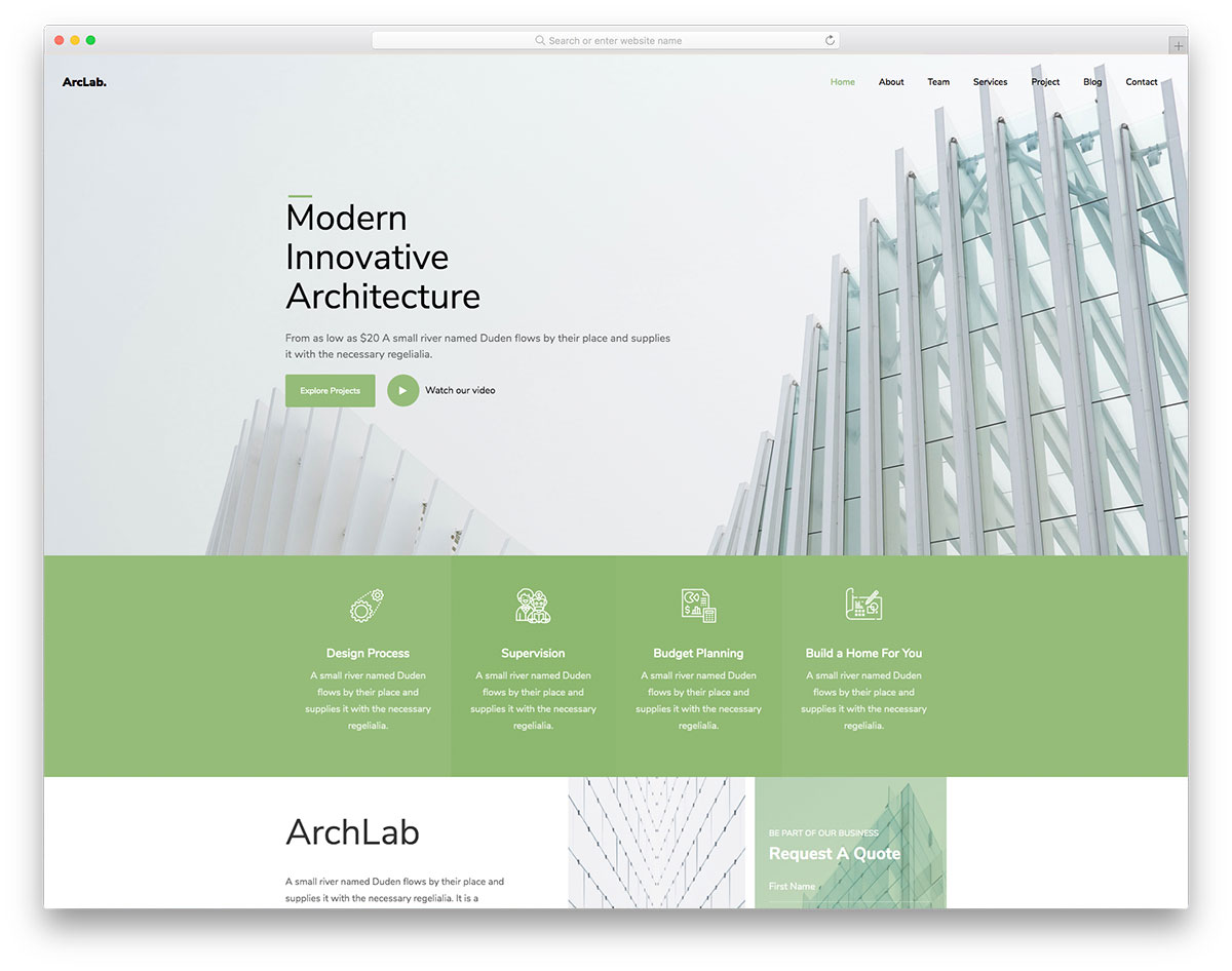 Archlab Free Template