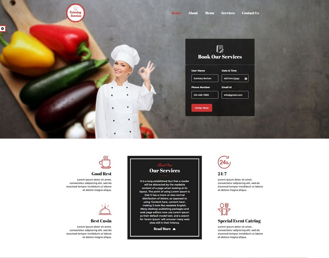 16 Awesome Catering Website Templates 2020 Colorlib