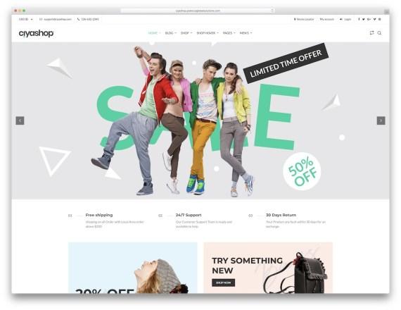 CiyaShop  WordPress eCommerce theme