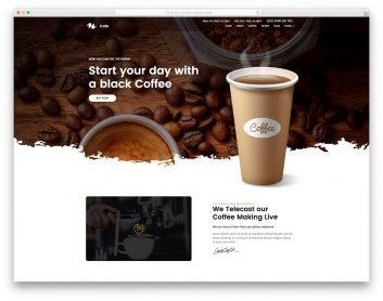Best Free Coffee Website Templates 2020 Colorlib