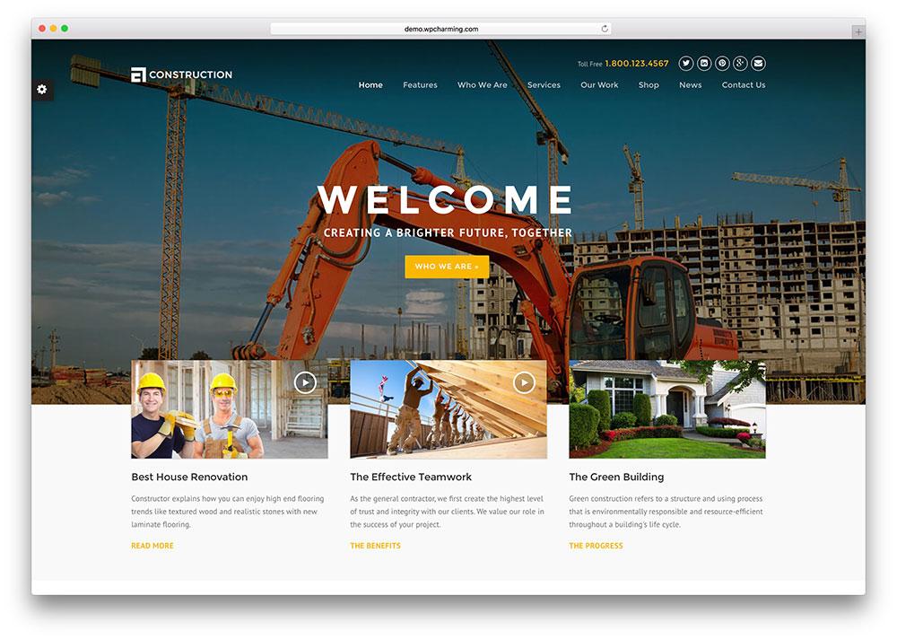 46 Best Construction Company Wordpress Themes 2020 Colorlib