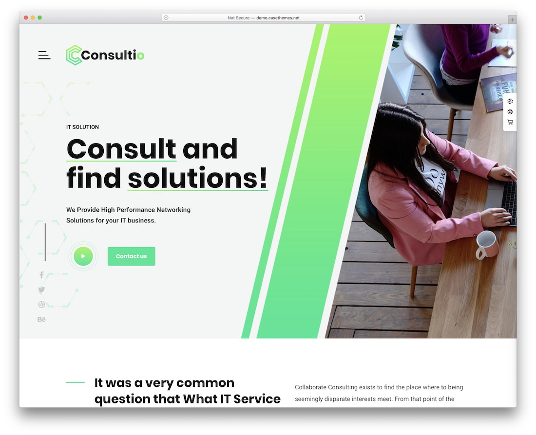 consultio consulting website template