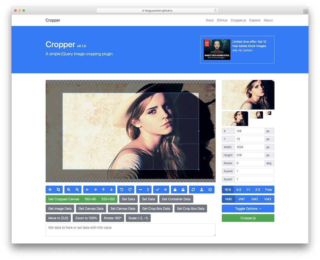 cropper jquery plugin