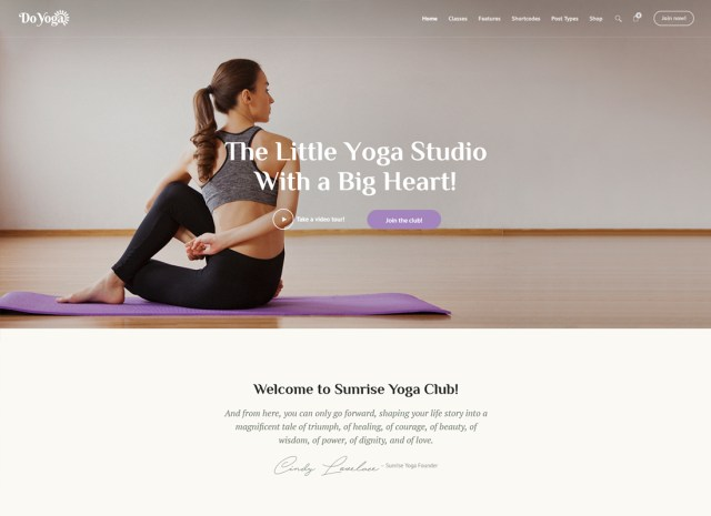 26 Best Yoga WordPress Themes For Yoga Studios 26 - Colorlib