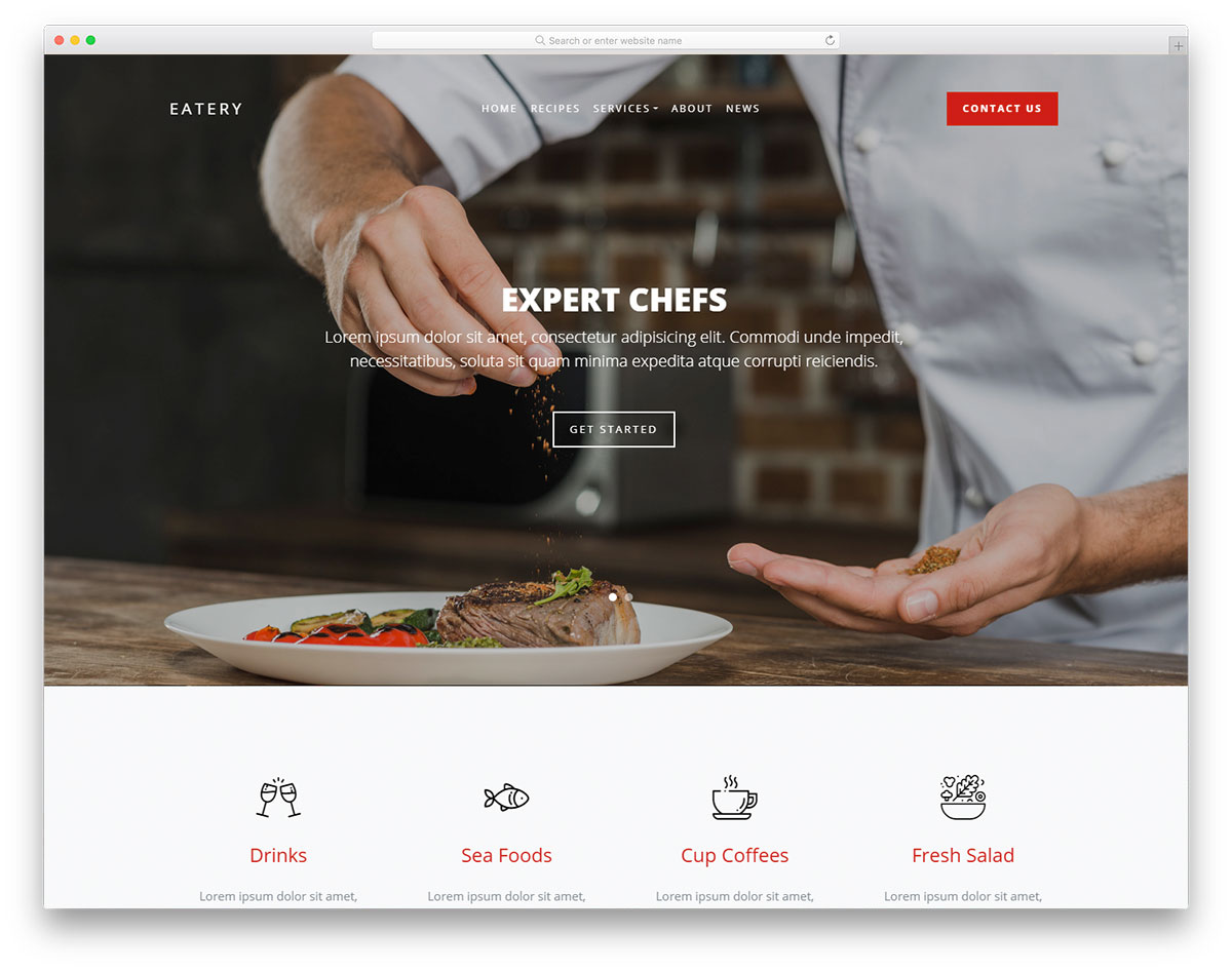 eatery free template