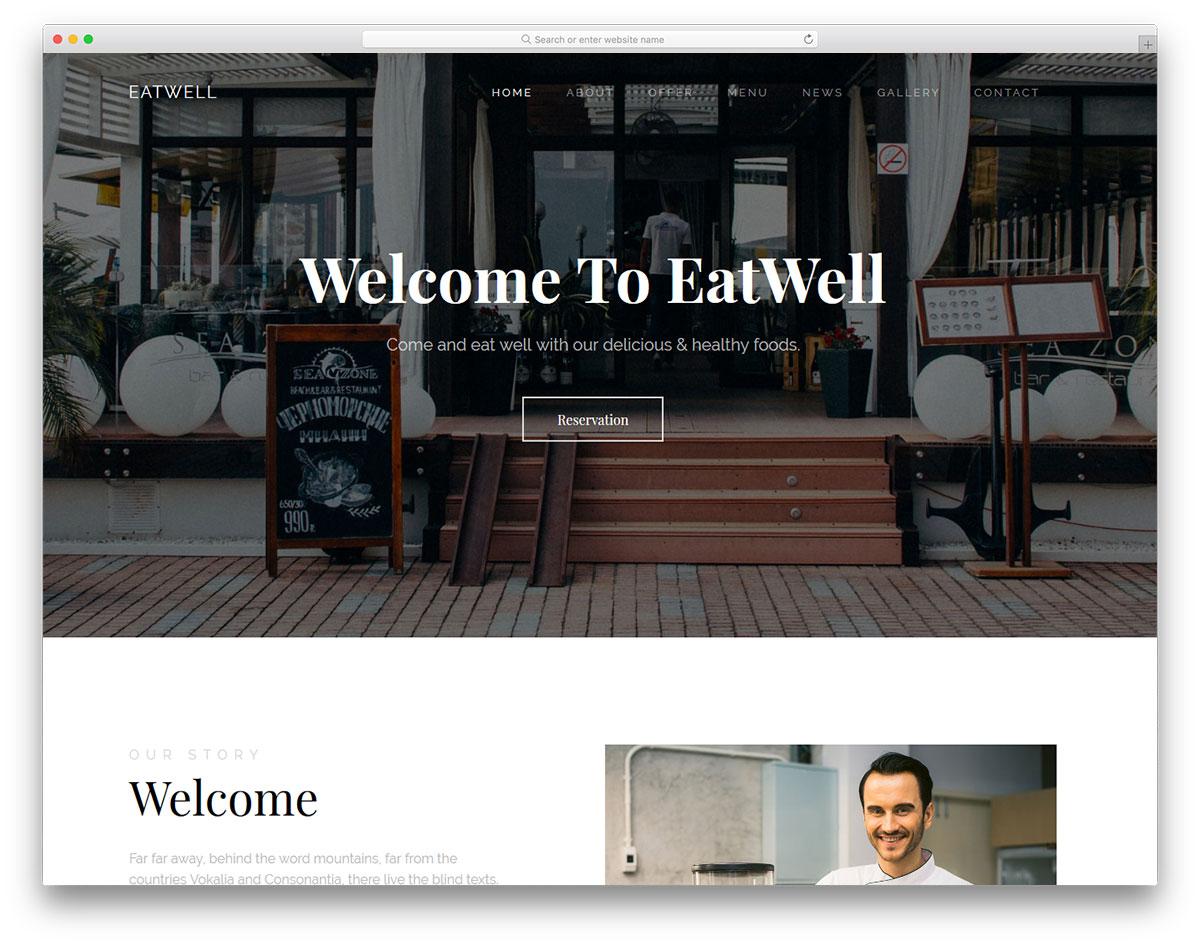 21 Best Free Restaurant Website Template 2019 Colorlib
