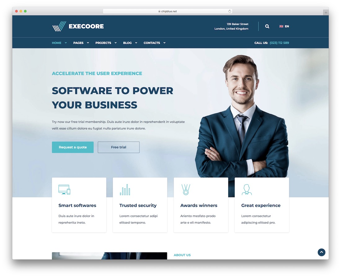execoore drupal business website template