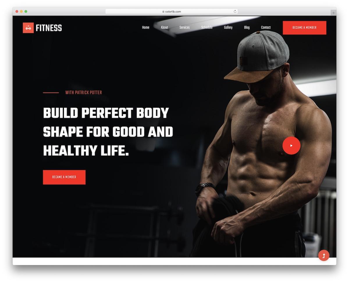 fitnessclub free template