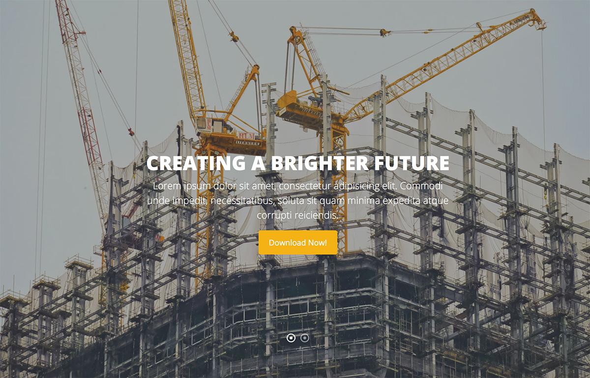 23 Best Free Construction Website Templates 2019 Colorlib