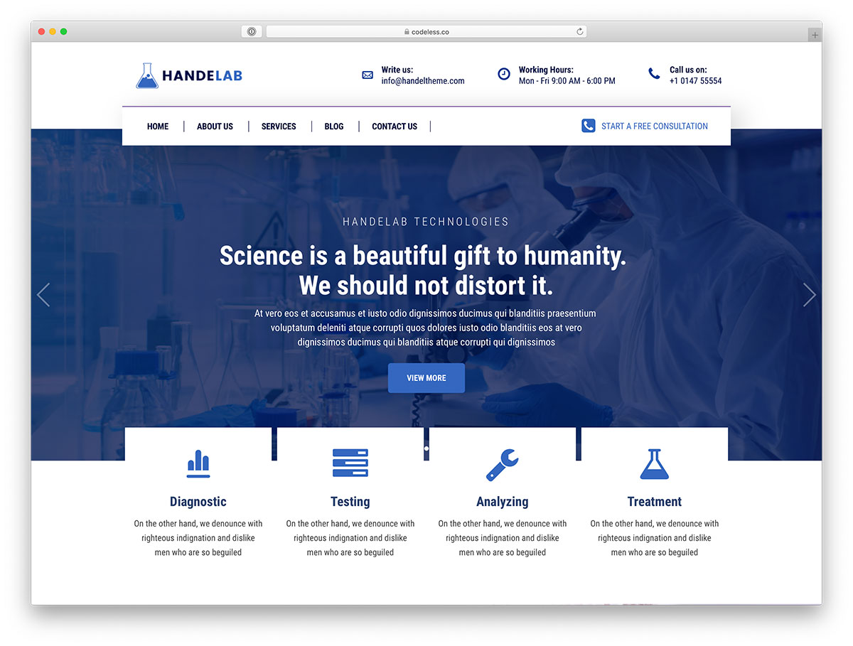 18 Best Science Wordpress Themes 2020 Colorlib