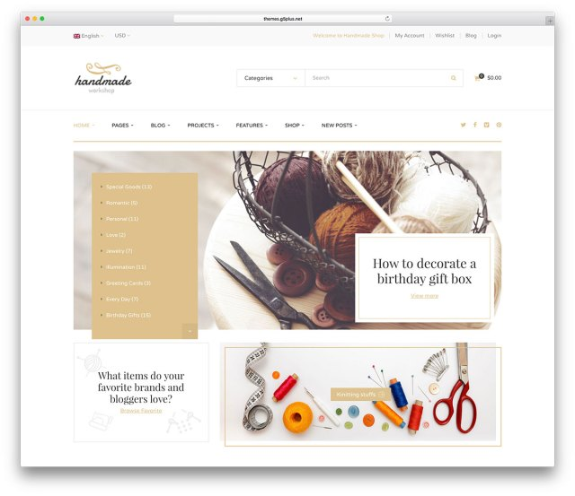 Handmade  WordPress eCommerce Themes