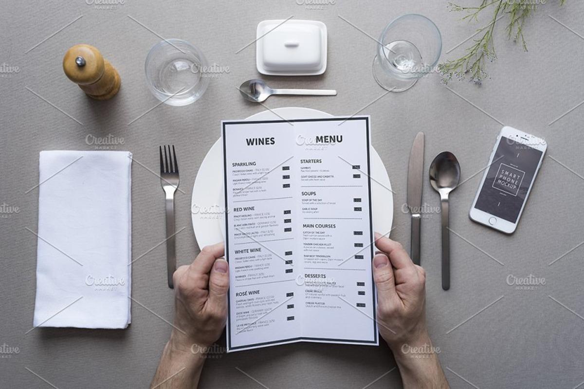23 Best Menu Mockups For Restaurant Branding
