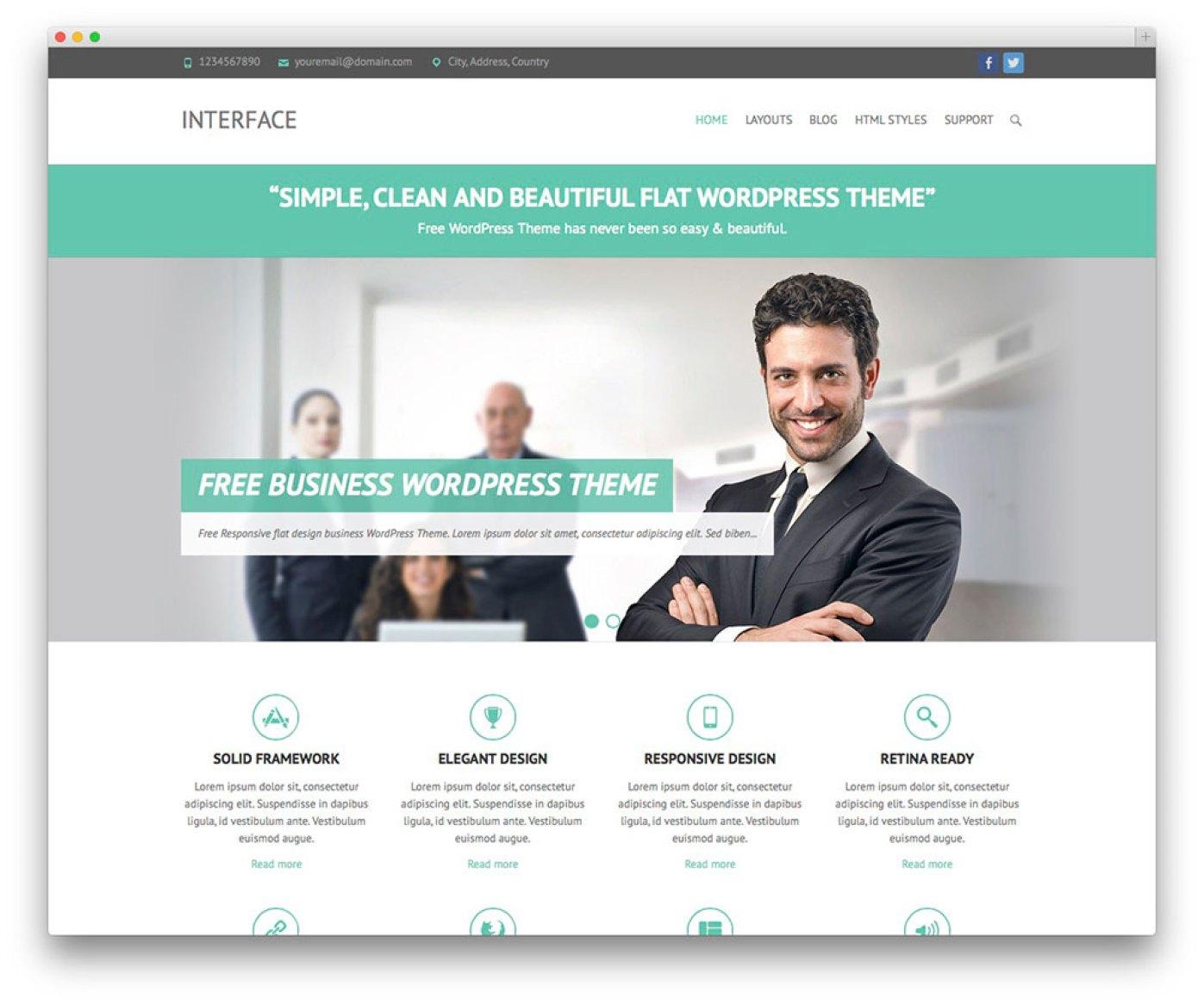 Interface - tema livre do negócio