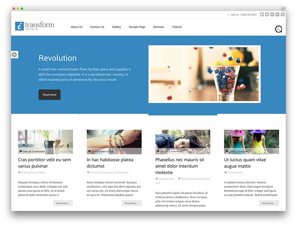 tema itransform WordPress