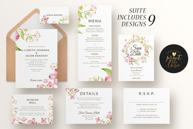 23 Gorgeous Invitation Templates For Weddings 2019 Colorlib
