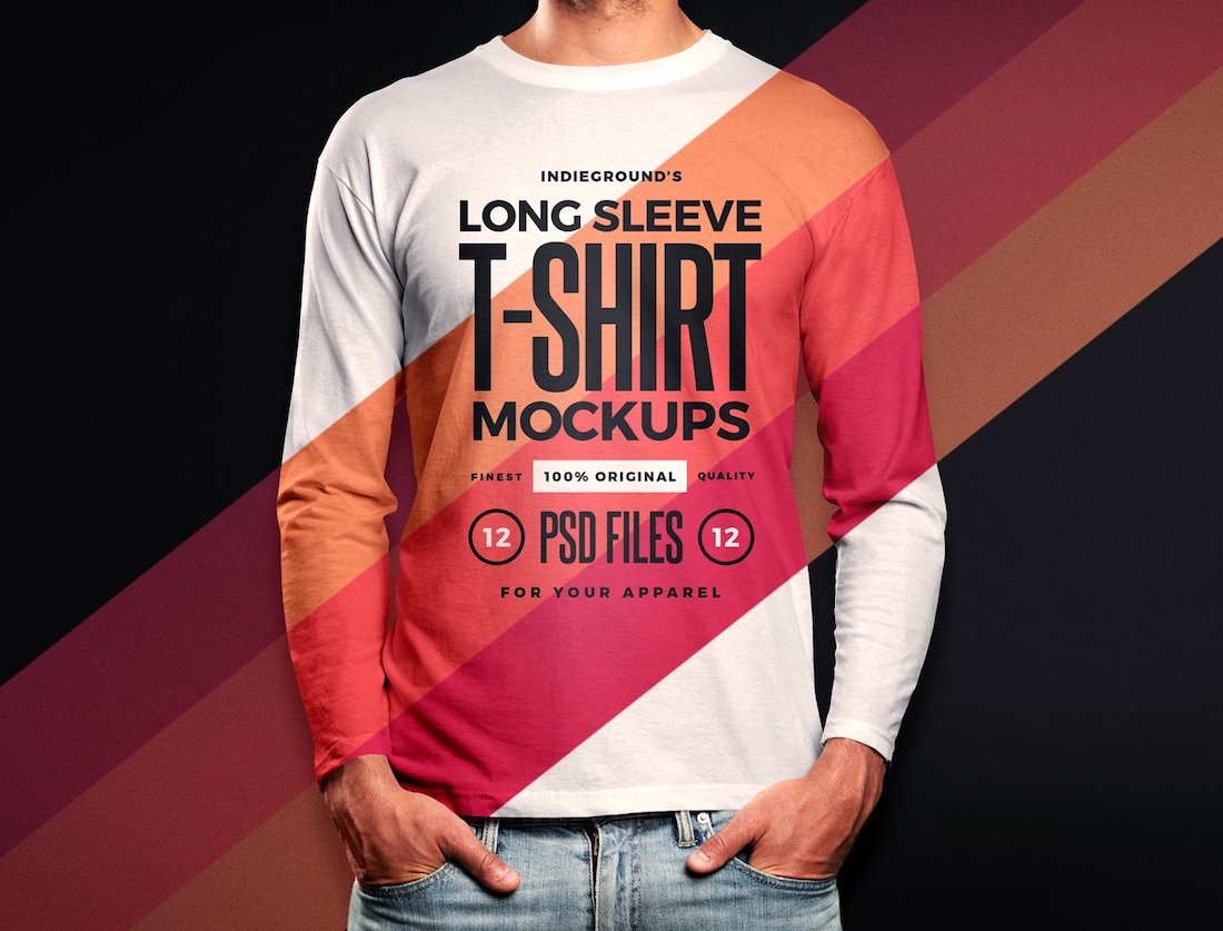 20 Long Sleeve Shirt Mockup Templates 2019 Colorlib