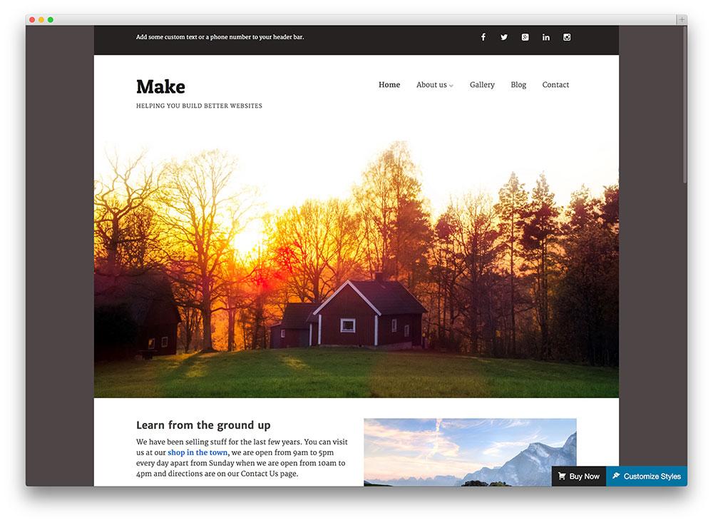 make WordPress template