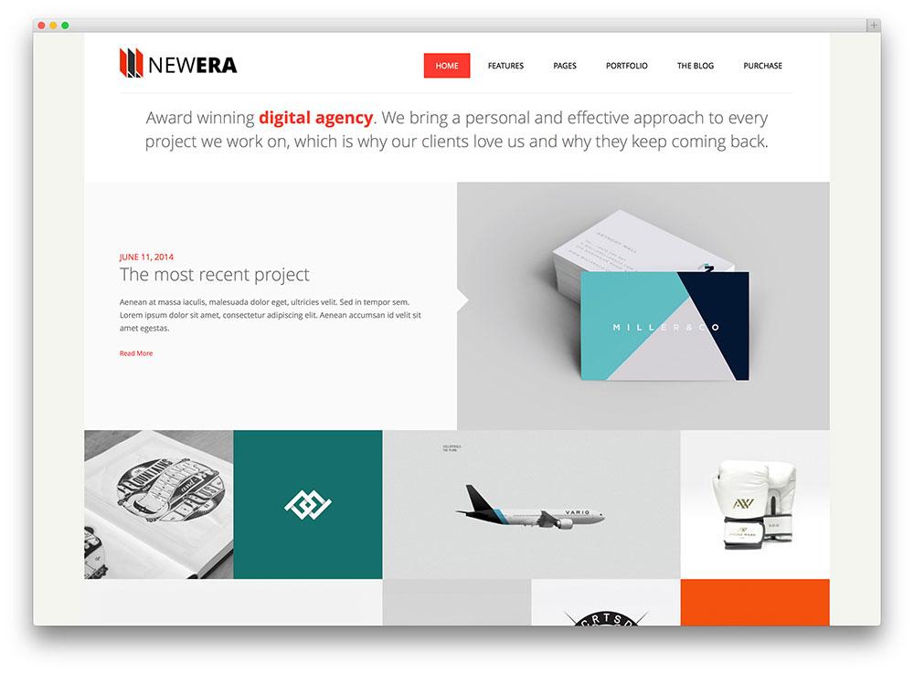 Newera creative design agency theme