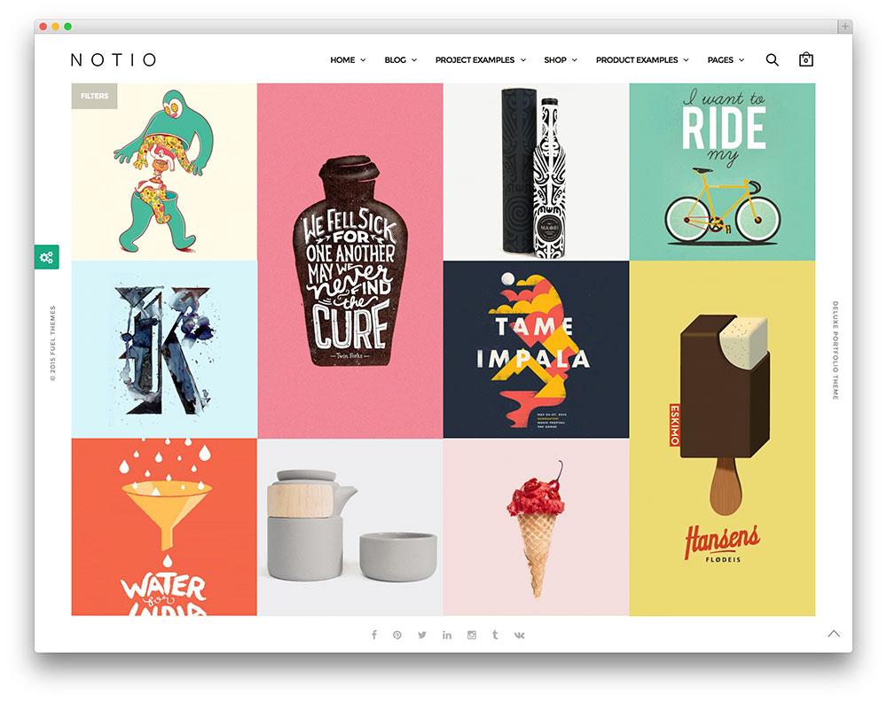 Notio clean minimal portfolio theme