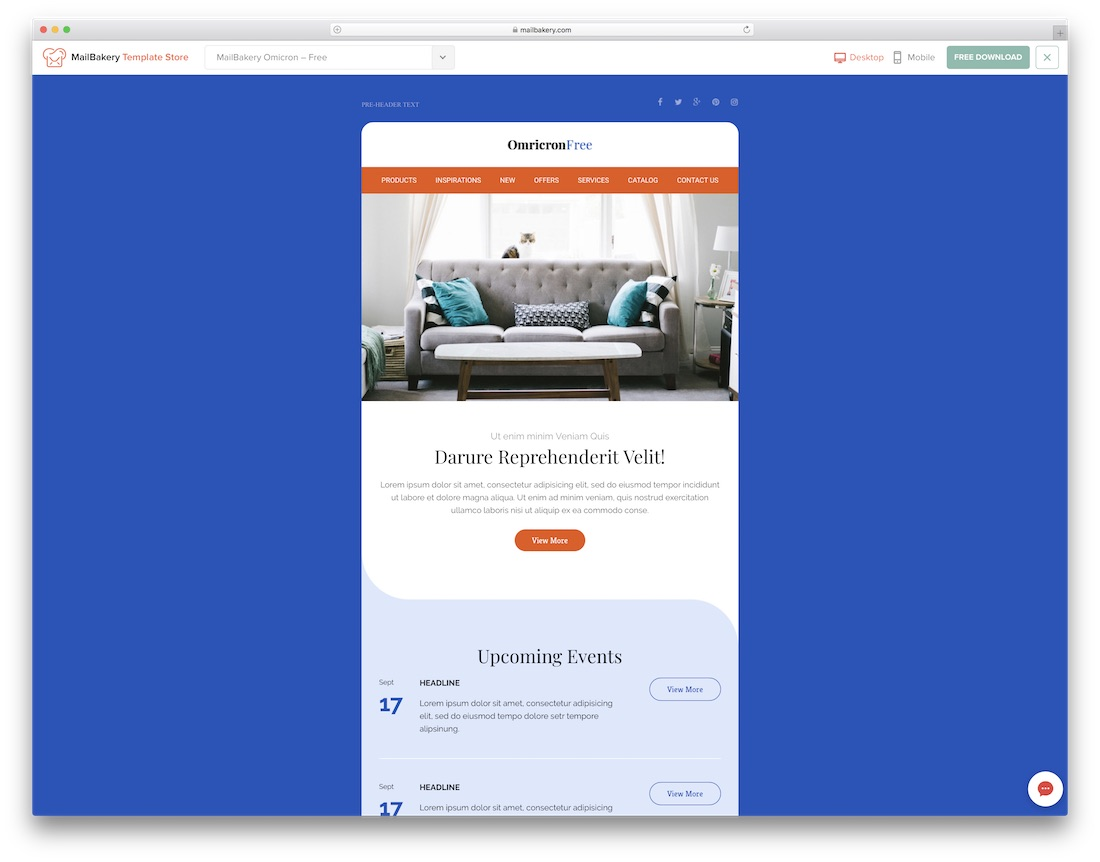 39 Free Responsive Html Email Templates 2020 Colorlib