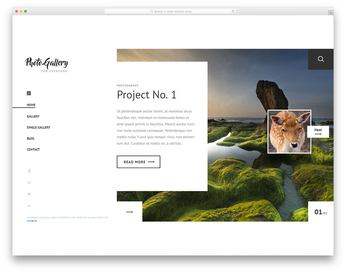 Photogallery Free Photo Gallery Website Template 2020