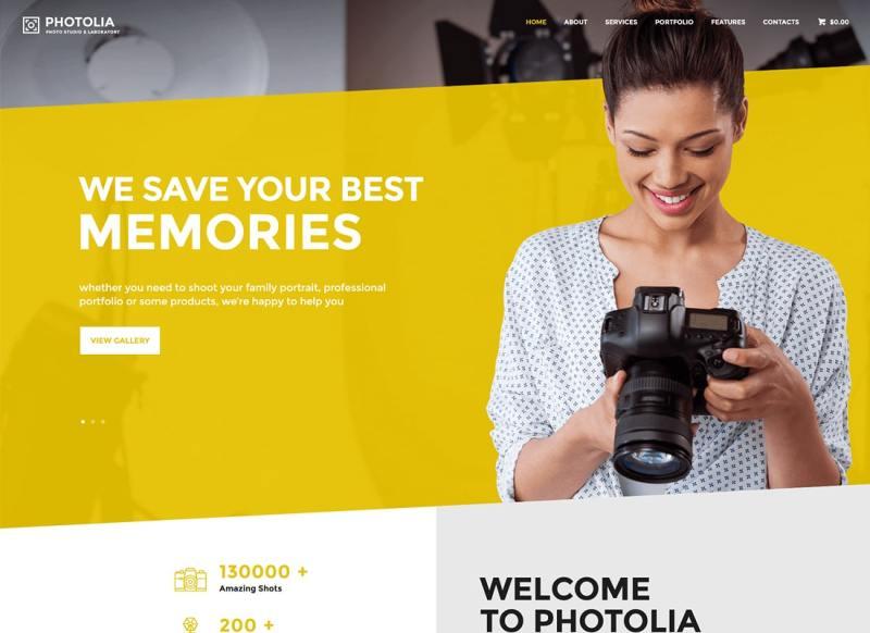 Photolia | Empresa de fotografía y tienda de suministros fotográficos Tema de WordPress