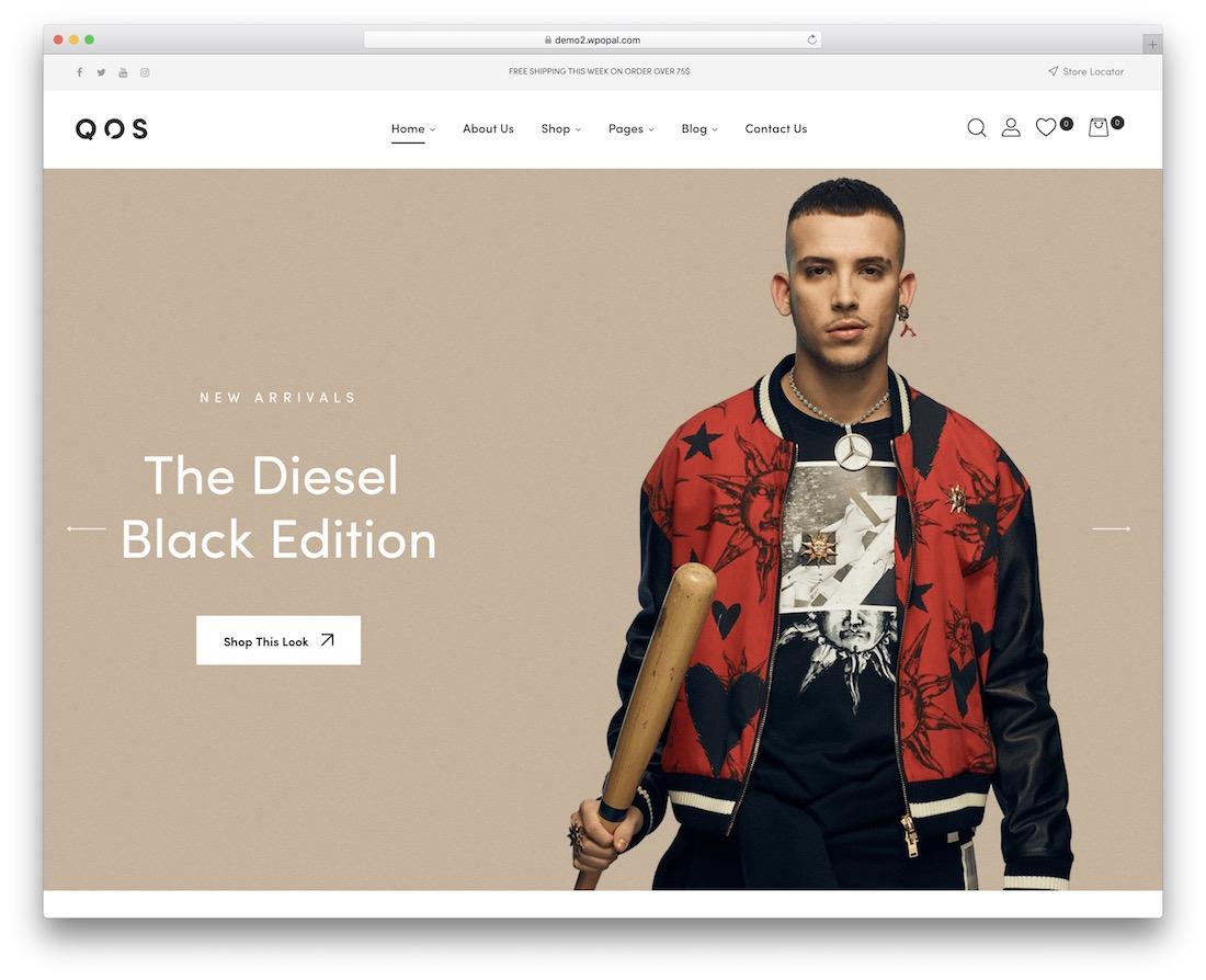 qos fashion website template