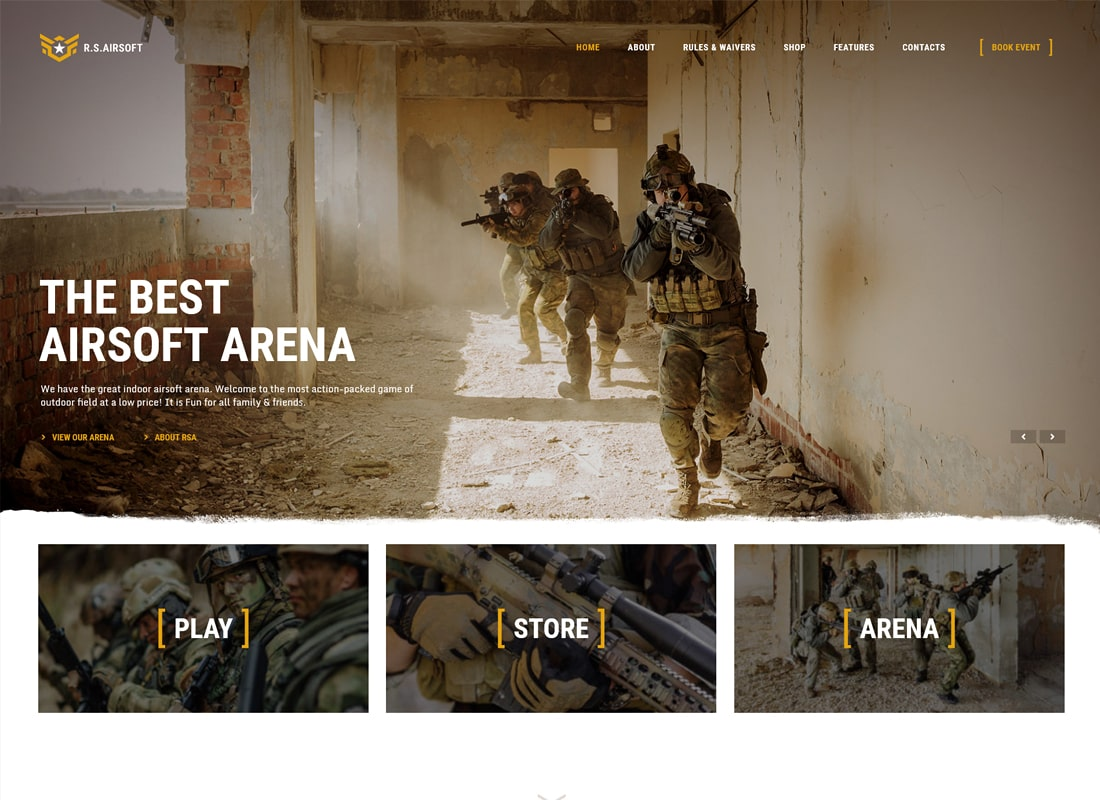 Espíritu Raider | Airsoft Club y Paintball WordPress Theme
