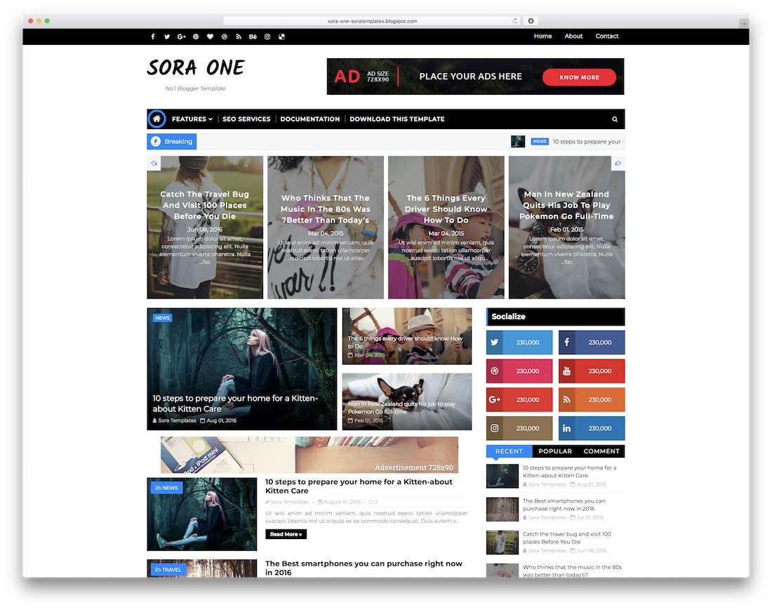 51 Best Free Responsive Blogger Templates 2019 Colorlib