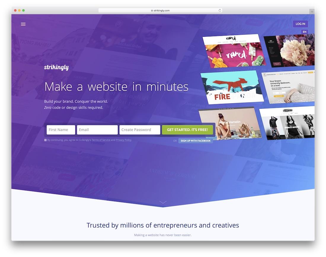 llamativamente creador de sitios web para maestros y escuelas