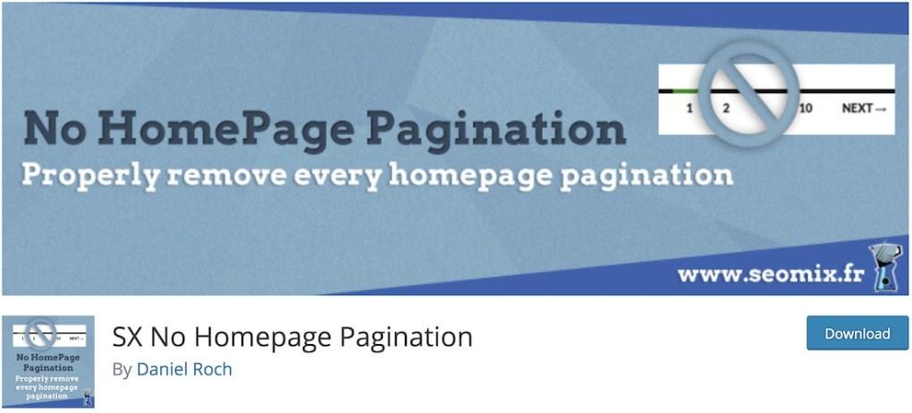 không có plugin wordpress phân trang trang chủ