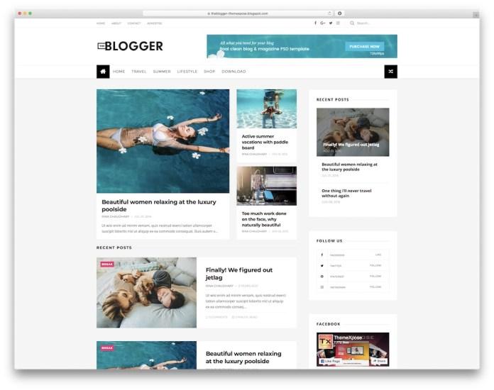 best free responsive blogger templates xml